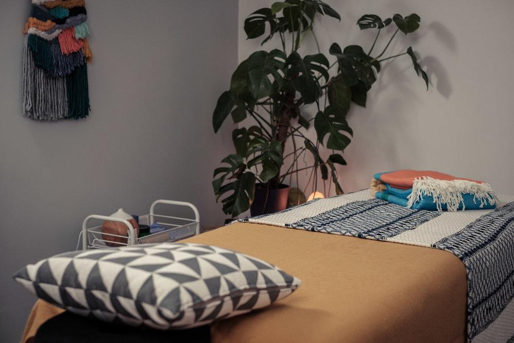 Massage treatment room in Leytonstone