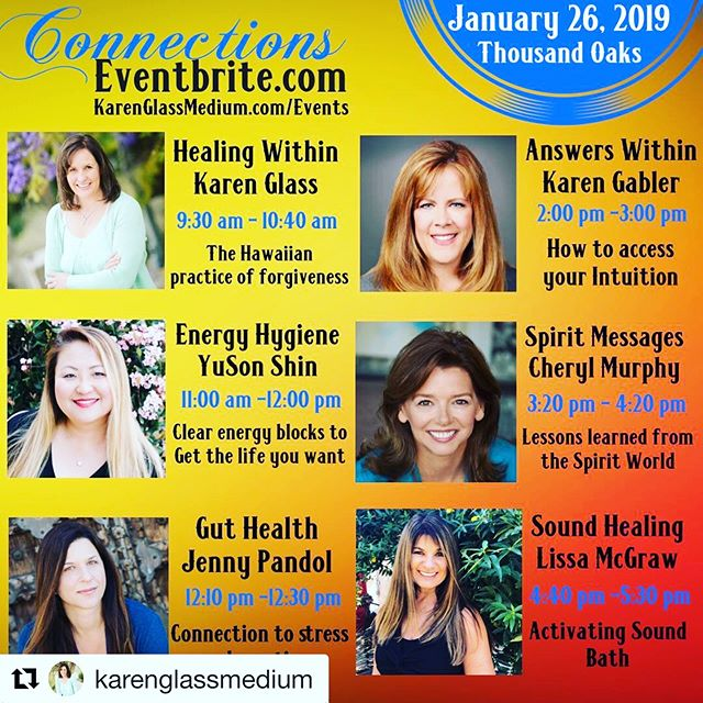 """Connections, Plug into your Soul in 2019""  in Thousand Oaks, CA  Powerful day filled with inspiration and healing with 6 amazing women presenters.  Plus, Cosmic Cubes will be available for purchase in the Store!! Tickets on sale at https://www.eventbrite.com/e/connections-plug-into-your-soul-in-2019-tickets-52177103120  #Repost @karenglassmedium with @get_repost ・・・ You can explore our Connections Store where you will enjoy local authors, artists, essential oils, jewelry, aura photography, massage and so much more.  Great way to kick of the New Year! Take a day for yourself or treat a friend or love one.  We look forward to seeing you there.  #spirituality #mediumship #soundhealing #connection #reiki #thousandoaksevents #palmgardenhotel #vendor #love #spiritualawakening #spiritualretreat @cherylmurphy2001 @lissam444 @zoes.garden @klg4105 @jennypandolfermentationist @yusonshin @sufiertur @lisayogini"