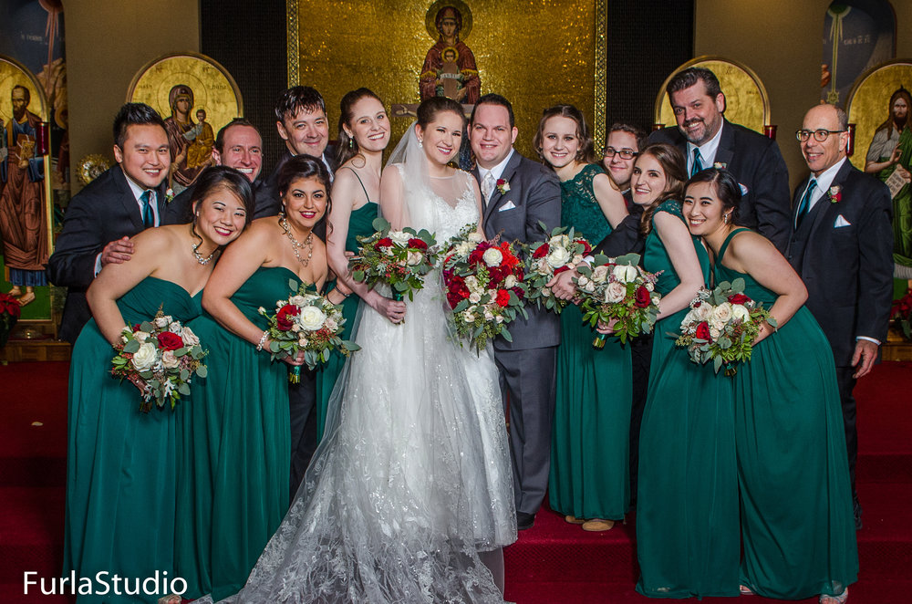 Emerald Green bridesmaids dresses for winter wedding in Chicago | Your Day by MK | Chicago Wedding Planner | MK Andersen