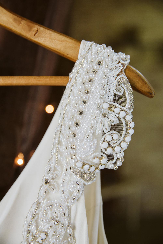 Vintage Wedding Dress Beading on Anna Campbell Wedding Dress