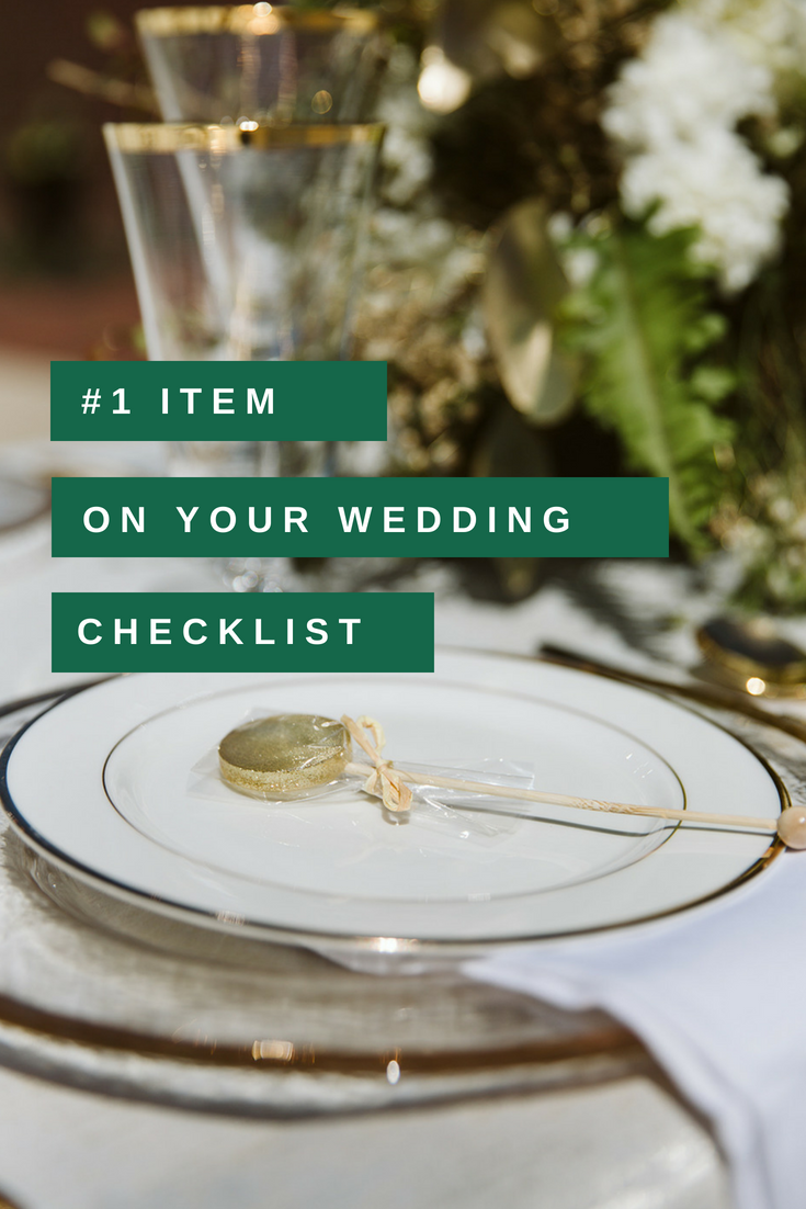 Most important Item on your wedding checklist