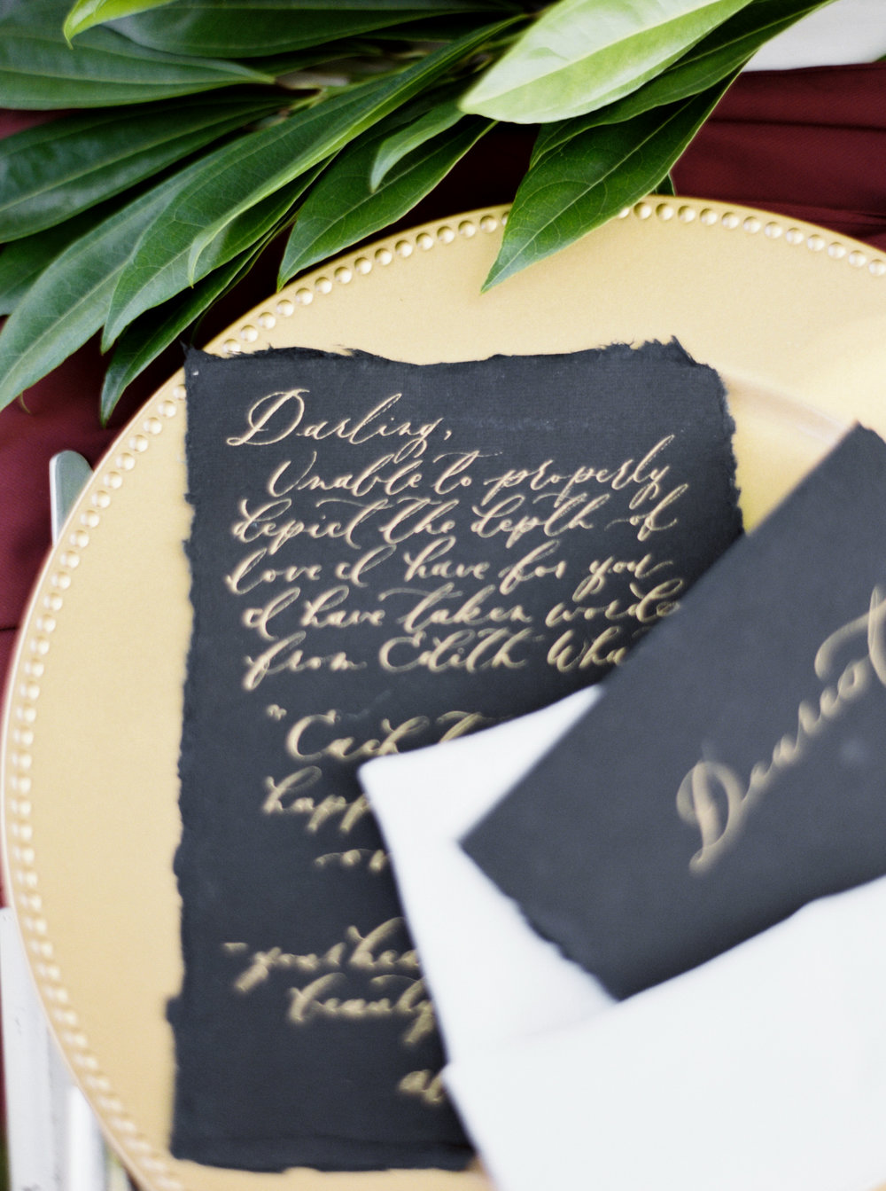 Custom Calligraphy for wedding vows