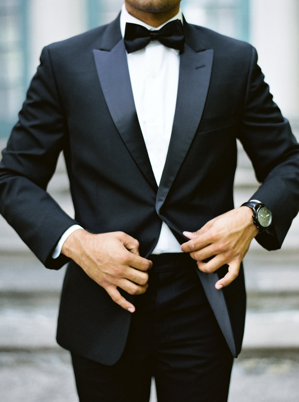 Classic Black tux for wedding