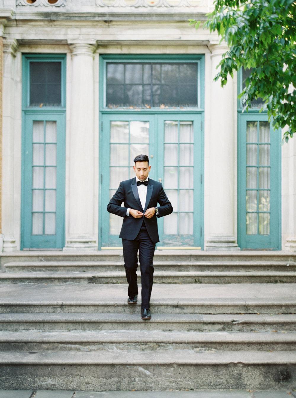 Classic Black tux for Black Tie Wedding