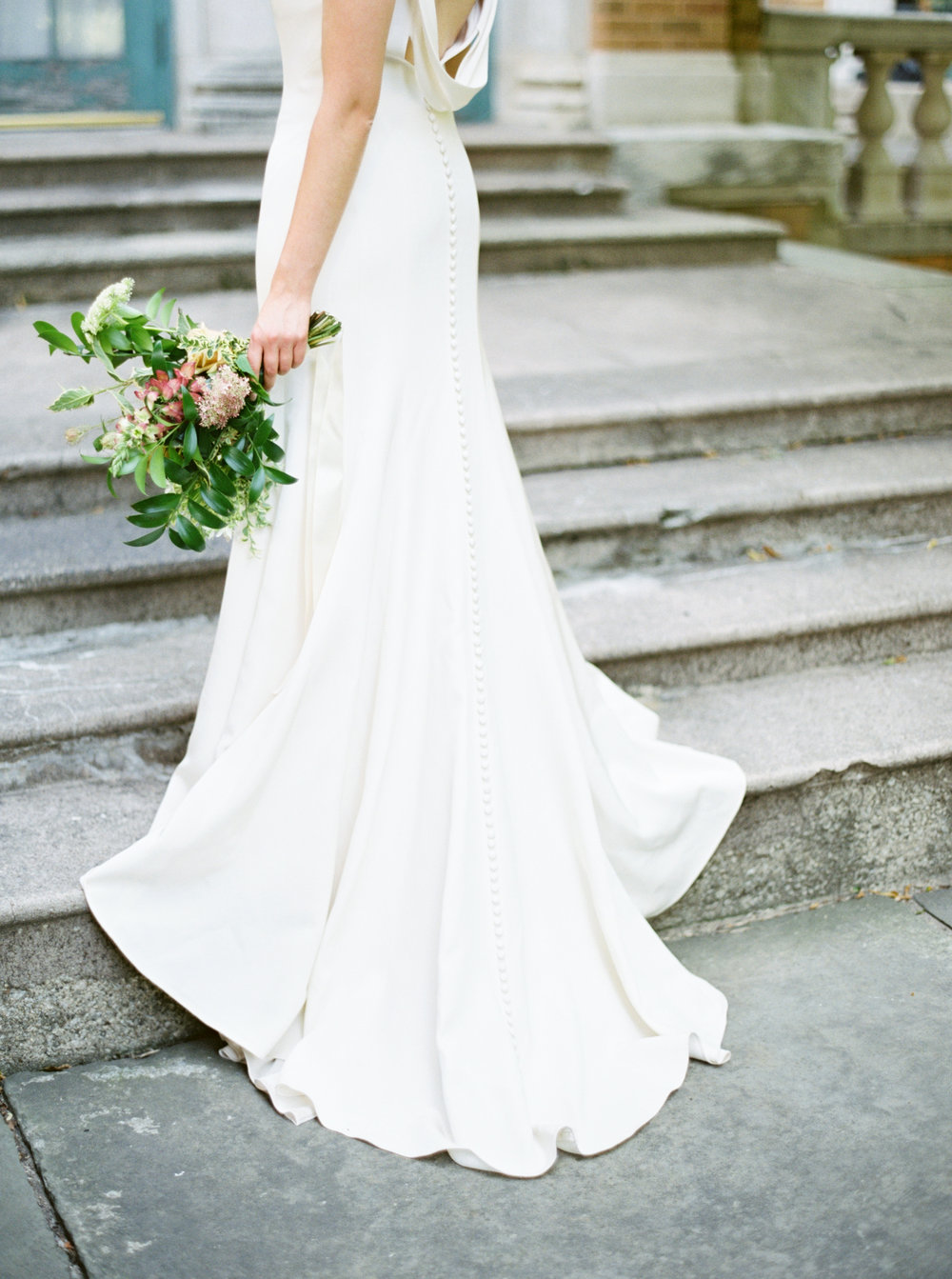 Jenny Yoo Kennedy Gown, Wedding dress with buttons all the way down