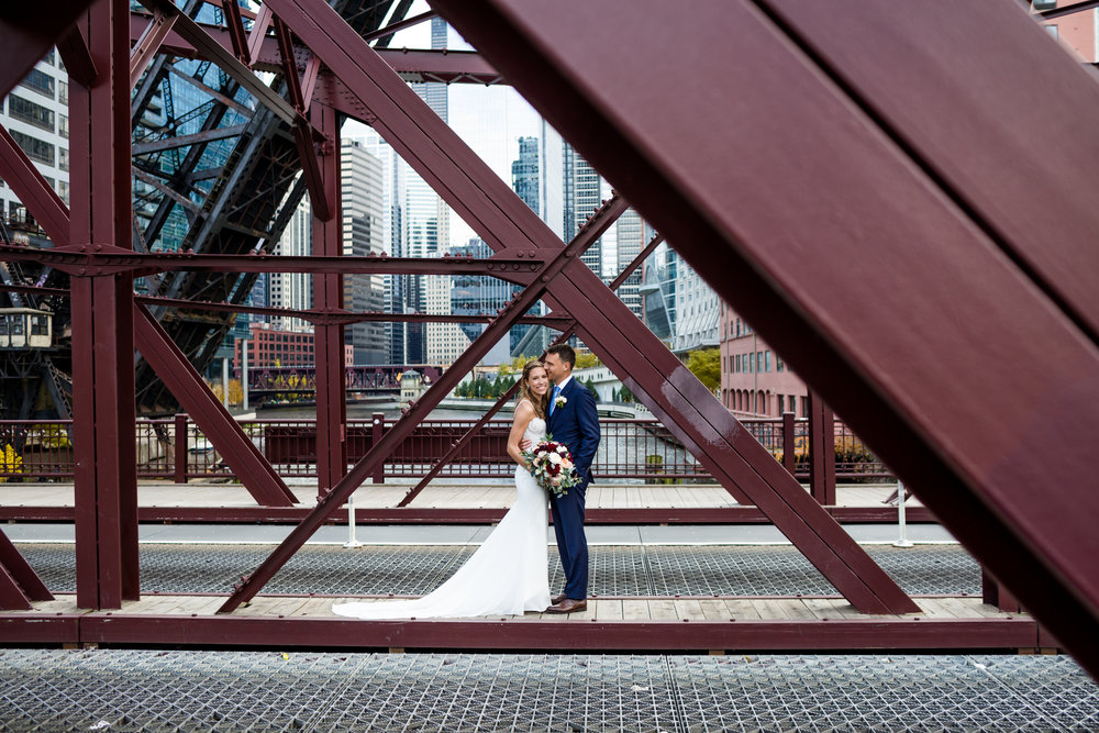 Kinzie Street Bridge | Chicago Illuminating Company Wedding | Fall Chicago Wedding | Marriott Marquis Wedding | Chicago Wedding Planner | Your Day by MK