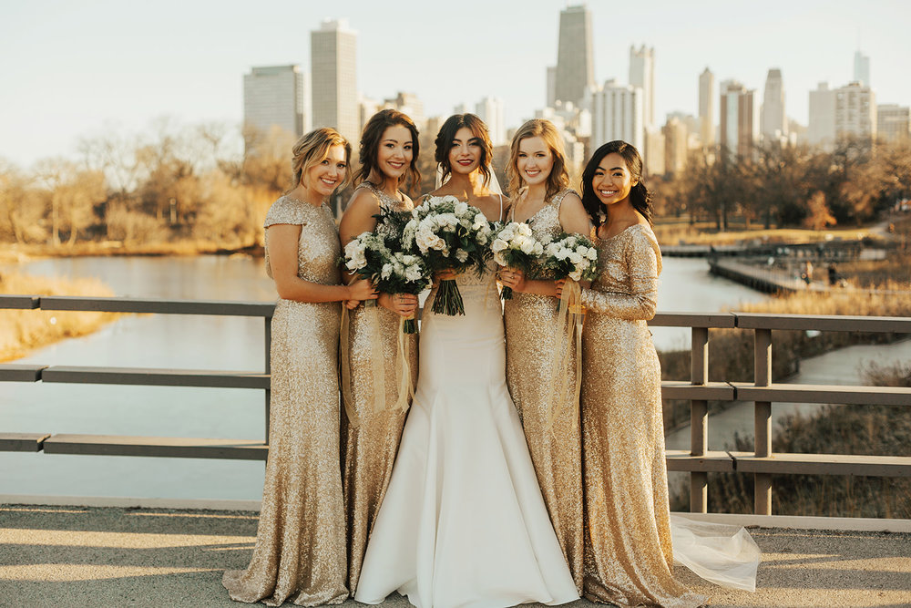 Winter Wedding Chicago Gold Wedding White Floral | Chicago Wedding Planner | Your Day by MK| Lincoln Park Views