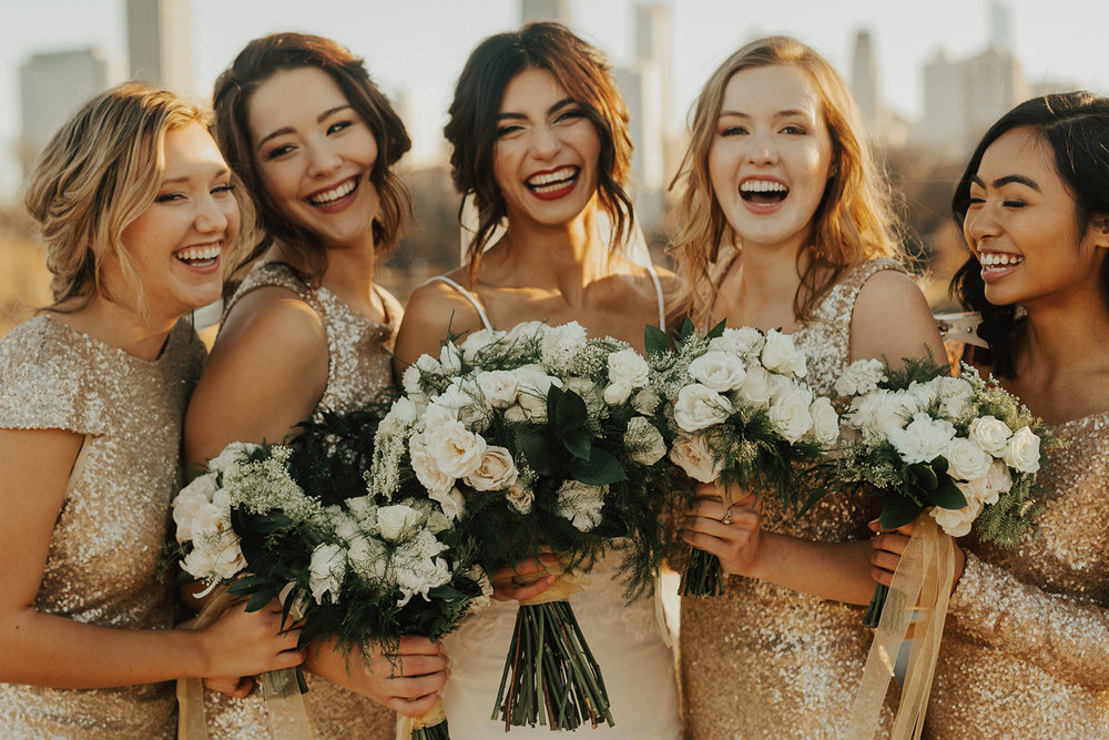 White and Green Wedding Florals | Winter Wedding Chicago Gold Wedding White Floral | Chicago Wedding Planner | Your Day by MK