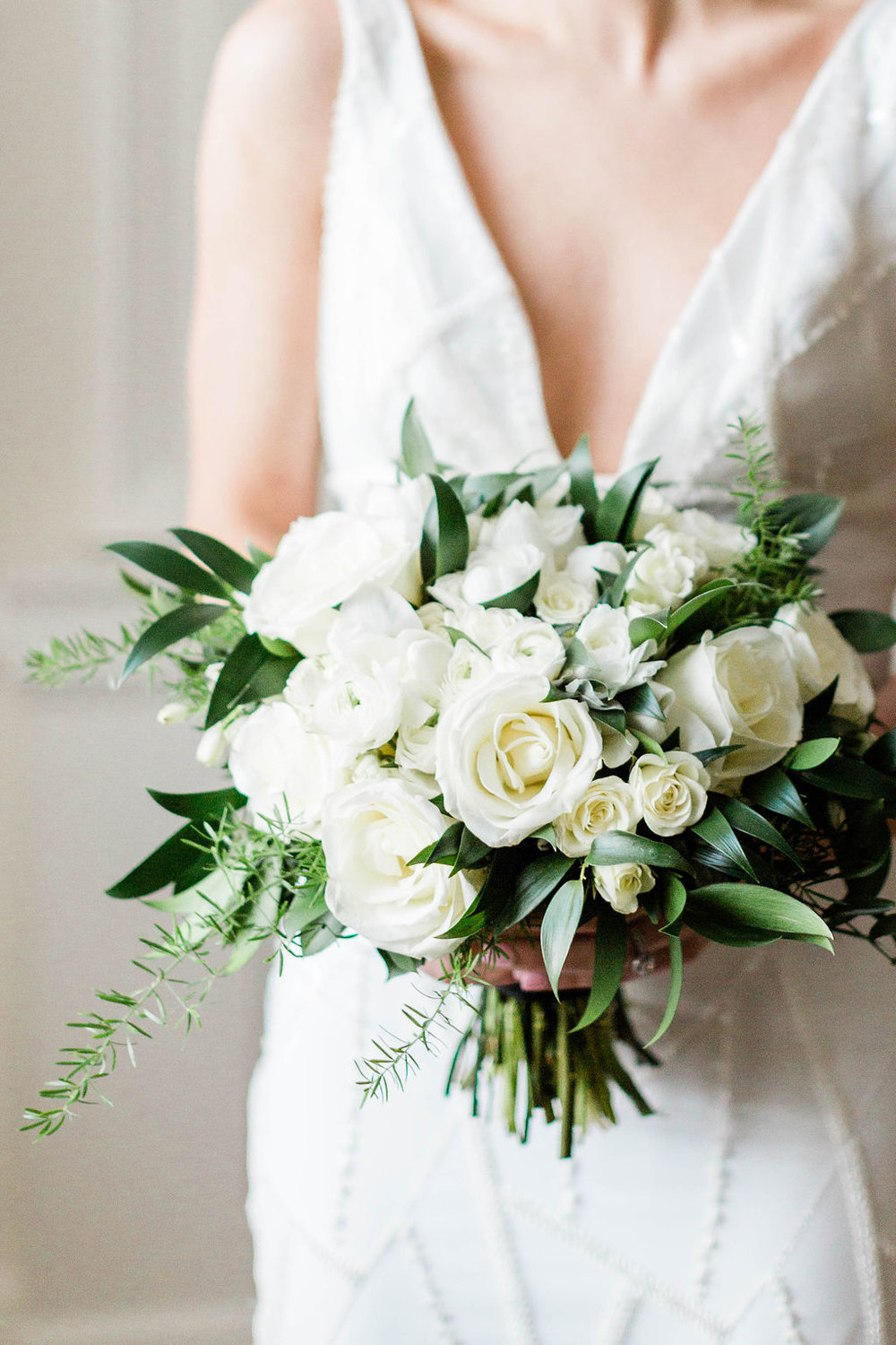 White Rose Bouquet | Bridal Bouquet | Chicago History Museum | Black and White Wedding | Black Tie Wedding | Your Day by MK | Chicago Wedding Planner |