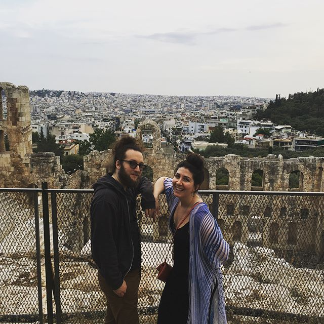 We're in Greece!  #acropolis #oldstuff #greece #idontmissmygirlfriend #becausesheshere #vacation #athens