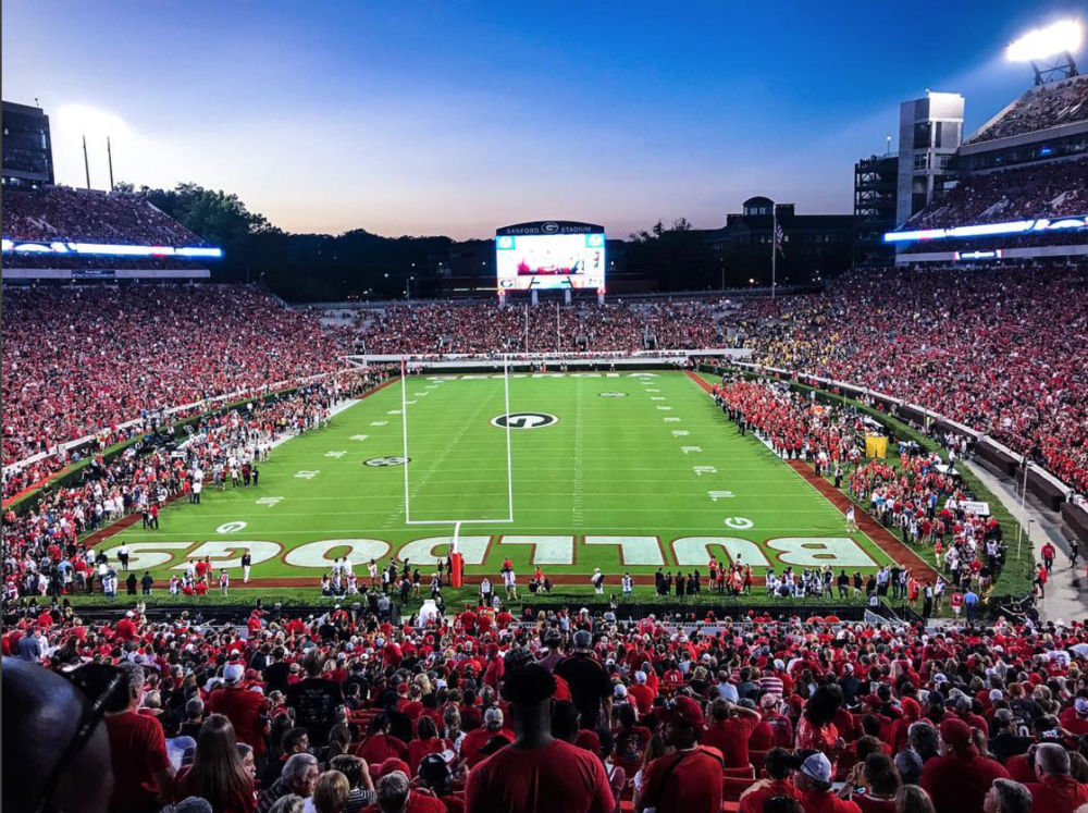 Sanford Stadium 2016 taken from Scott & Will's seats