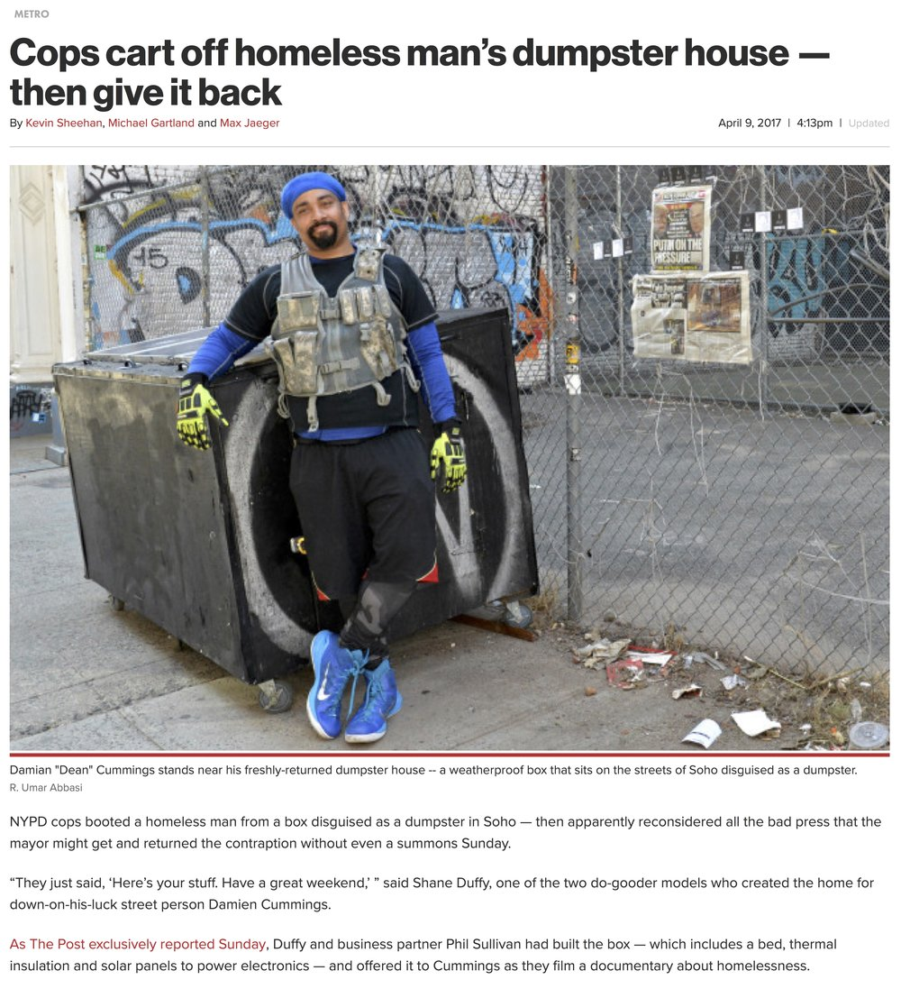 web Cops cart off homeless man's dumpster house — then give it back | New York Post.jpg