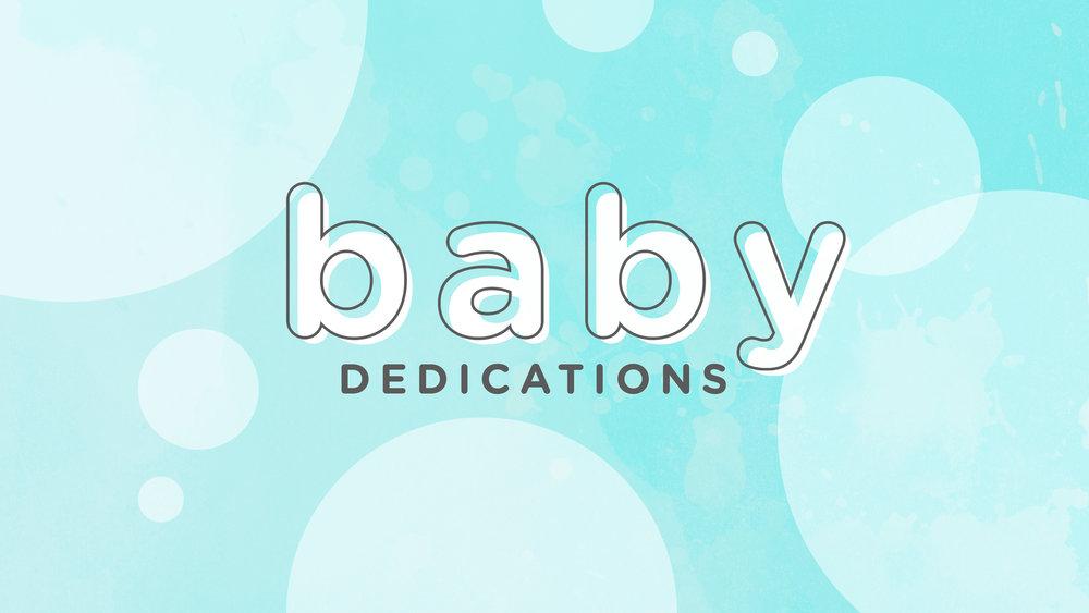 Foundations Church Baby Dedications October 7