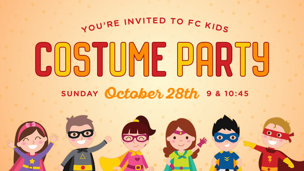 Foundations Church Kids Costume Party October 28