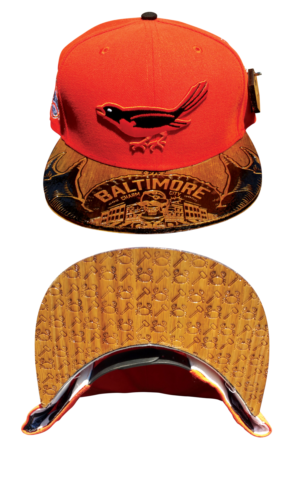 24K Wood Etched Brims Hats San Diego, CA