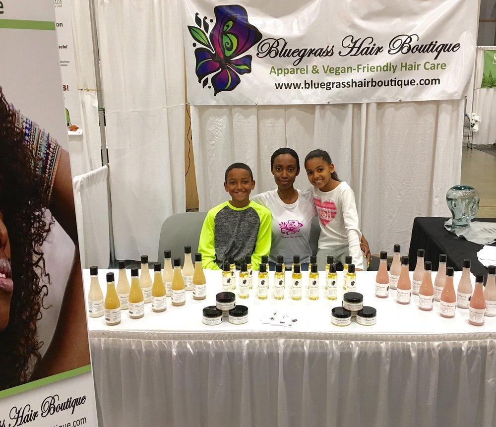 Bluegrass Hair Boutique- Founder Tamiika Watson & Children Baltimore, MD