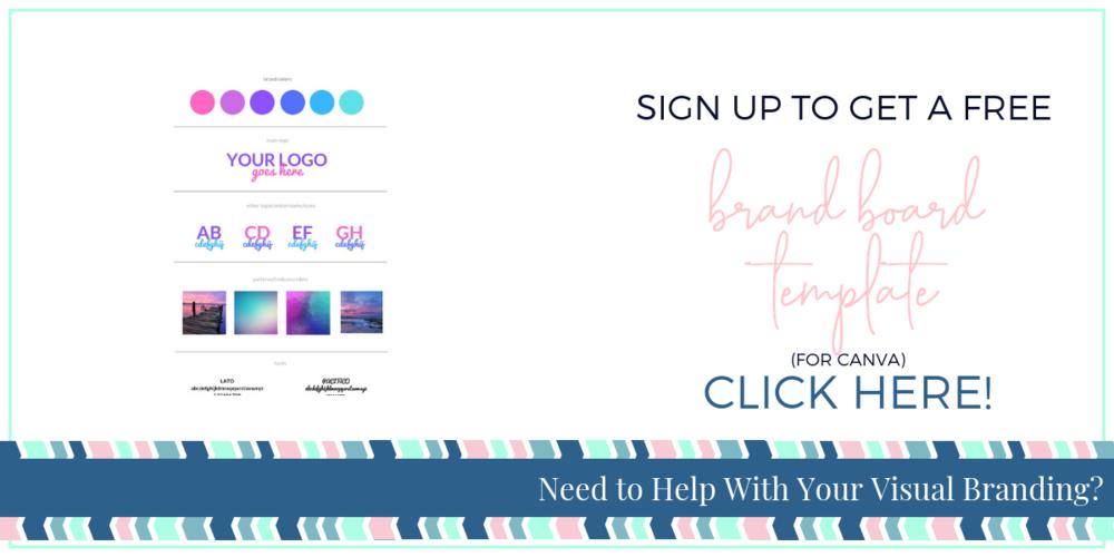 Brand Board Template for Canva -