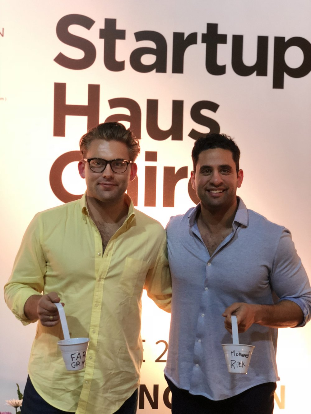 Our Founders Planting A Seed - Startup Haus Cairo