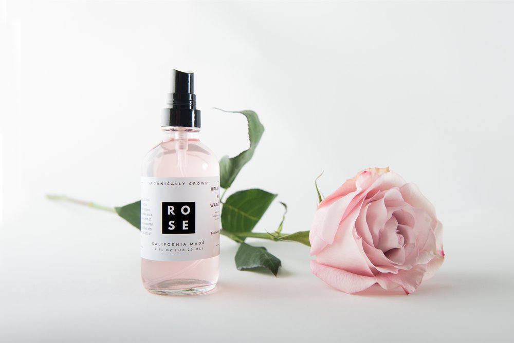 Rose Water - When my client came to me with this product, I was excited to work together. This is the most amazing rose water I have ever experienced, and I wanted a peek in on the magic. Her brand is clean, simple and fresh, made with pure ingredients by hand. She makes the rose water out of her home and uses some non traditional methods when making it, including cutting the buds off of the plant with crystals, instead of clippers and only using roses from certain plants in her yard. She needed a combination of studio product shots and shots of the process of making the rose water for her website and digital advertising campaigns.