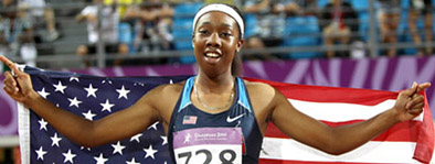 Robin Reynolds:  Reynolds was a part of the University of Florida's national champion 4x100 and 4x400 teams in 2015. She was also a 16x All-American for the gators and currently competes on the professional track and field curcuit.