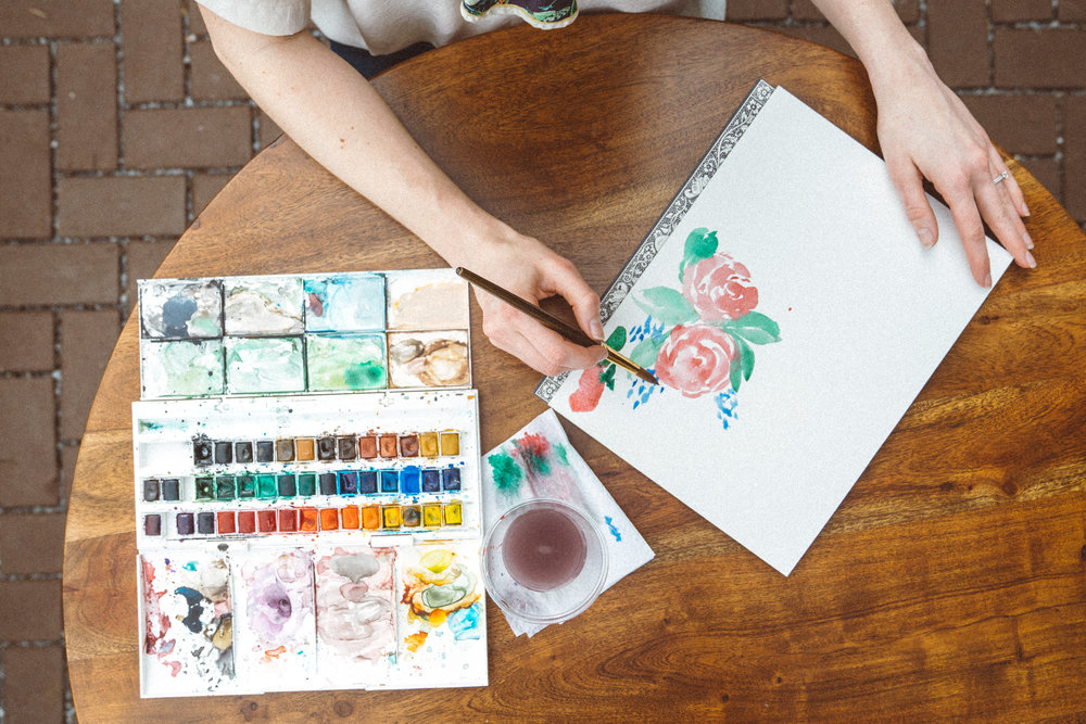 Learn 8 watercolor tricks - Go home with a framed original 6x8 painting.