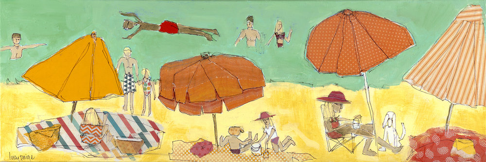 lucy paige artist key west beach day series collage Sunny Day at the Beach.jpg