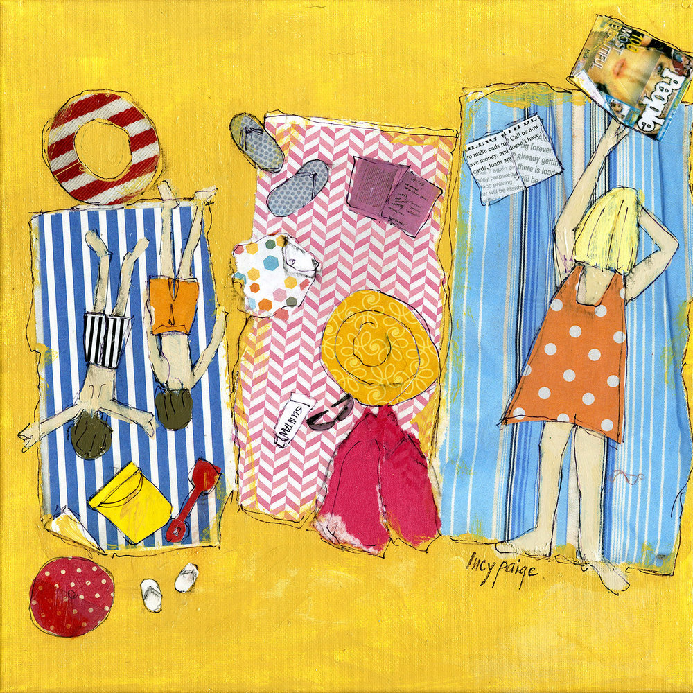 lucy paige painter key west artist beach days collage .jpg