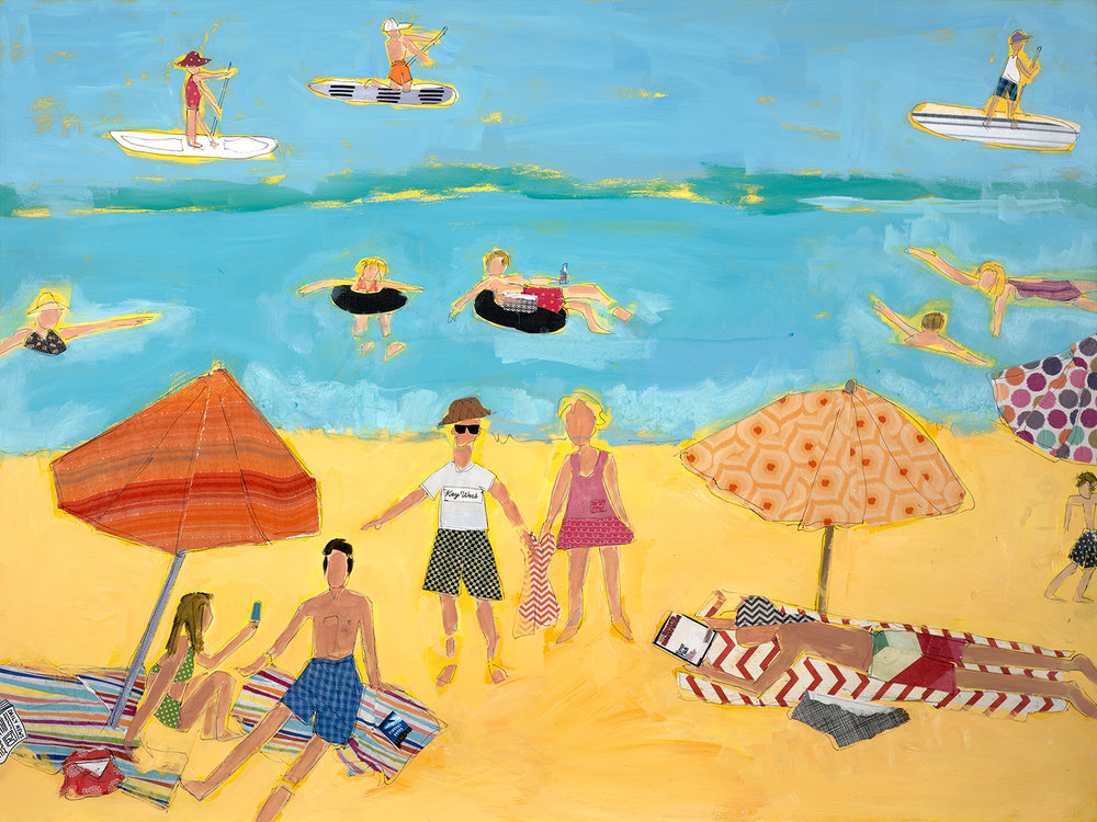 lucy paige artist key west beach day series collage 3.jpg