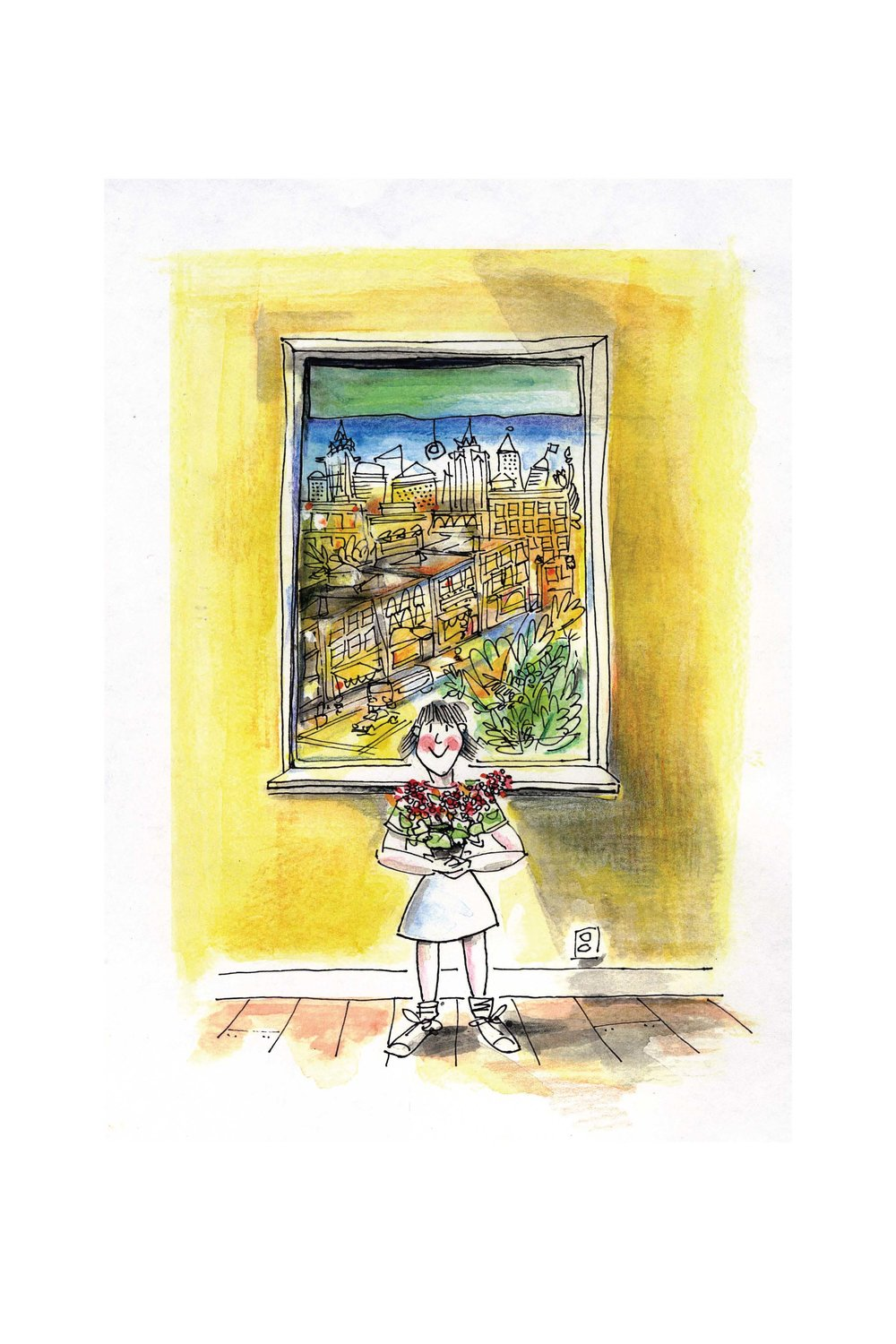 "Illustrations for ""Jane on Jane Street,"" a children's book"