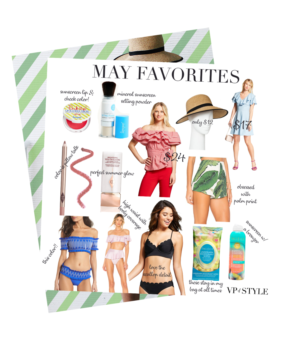 may favorites round up - I cannot believe that it's already the first of June. Where the Heck did May go, you ask!? Well for me,May was crazy busy with recitals, end of year school parties, exams, travel, my work in real estate, tennis tournaments, birthday parties, hangout fest, and the list could go on. I think we had a full week of activities and to do's every single week.It literally feels like I blinked that month Gone. Since May blew by so quickly,I thought I would do a recap of some of my favorite purchases and share them with you here.I bought a lot of great Summer essential items from sunscreen/beauty products to my favorite swimsuits and that will be great for the upcoming Summer months.