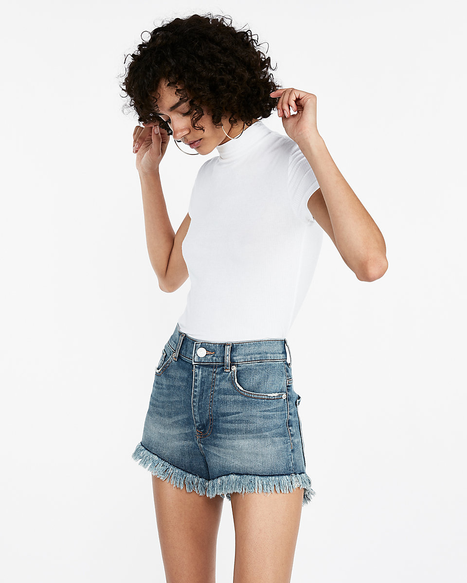 Love the fringe and that the leg is loose. EXPRESS on sale for $24.95