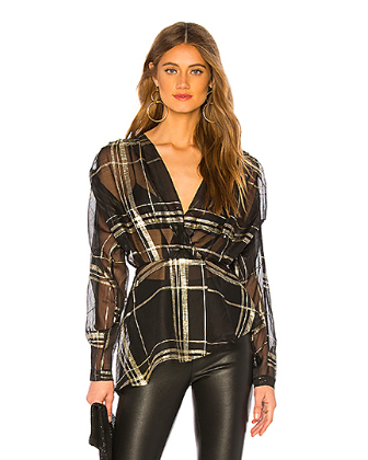 plaid blouse holiday