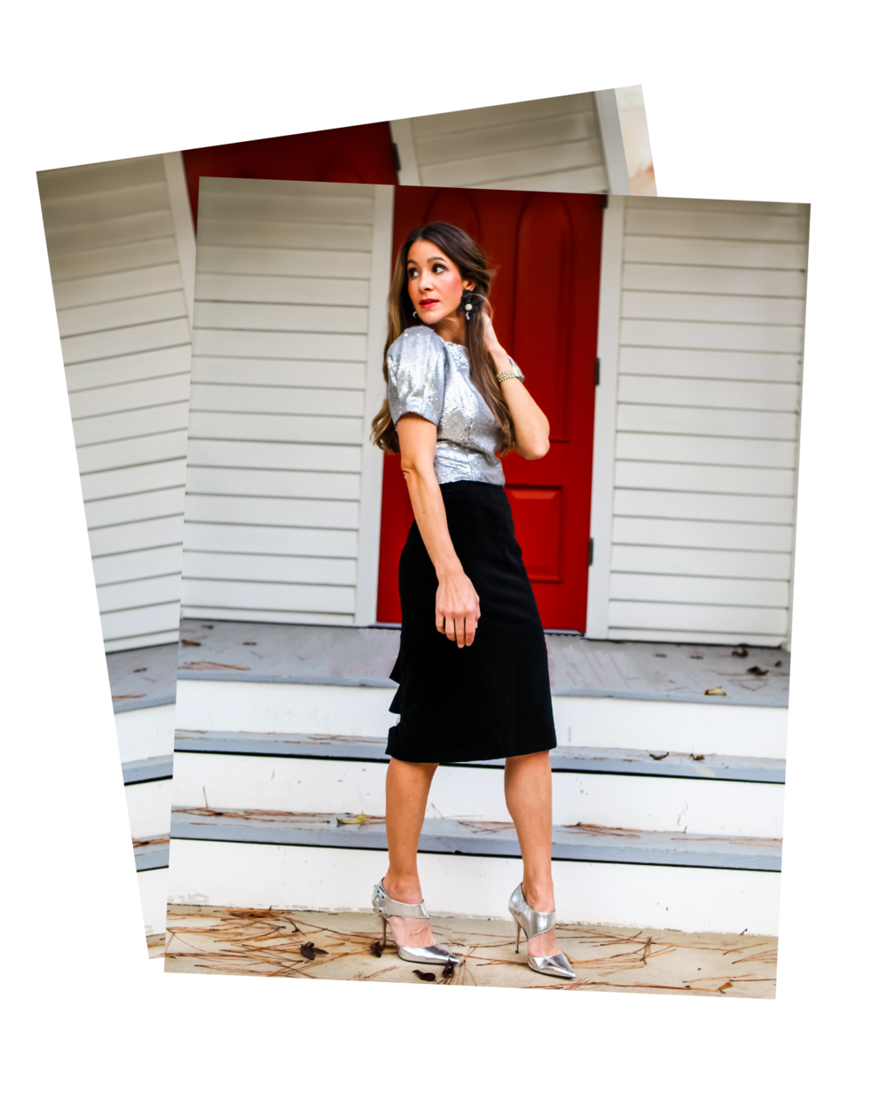 12 DAYS OF HOLIDAY LOOKS - It's the most wonderful time of the year……(cue all the classic Christmas music please!) I'm putting together 12 days of Holiday looks that you can wear to any of those upcoming events you've been invited to. Sure, you can always wear that LBD as a classic go to for any and all events, but why be BASIC, when you can add a little color and sparkle like these looks that will give that LBD a run for its money and have you looking all kinds of festive! And for the Holidays, I like to remember my girl Iris Apfel's quote…….