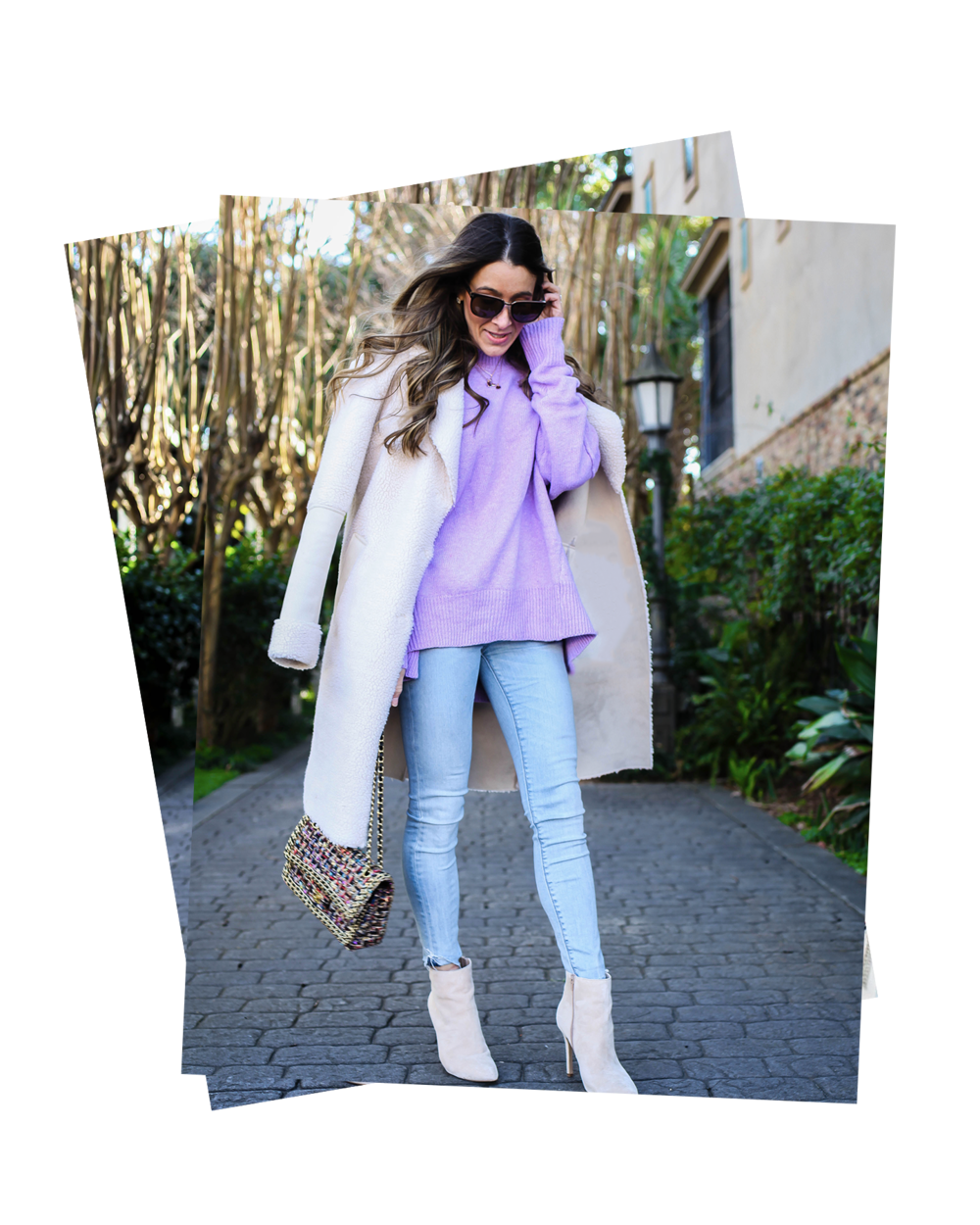 "5 ways to pop pastel in to your winter wardrobe - This time of year is always kind of ""glum"" to me. The highs of the Holidays come crashing down, the cold damp air, the lack of sunshine, all of it combined starts to take a toll on this girl's usual cheery disposition. I swear I am one of those that would benefit from"