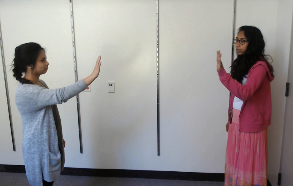 Two models demonstrating the synchronous movement activity. This activity lasted five minutes.