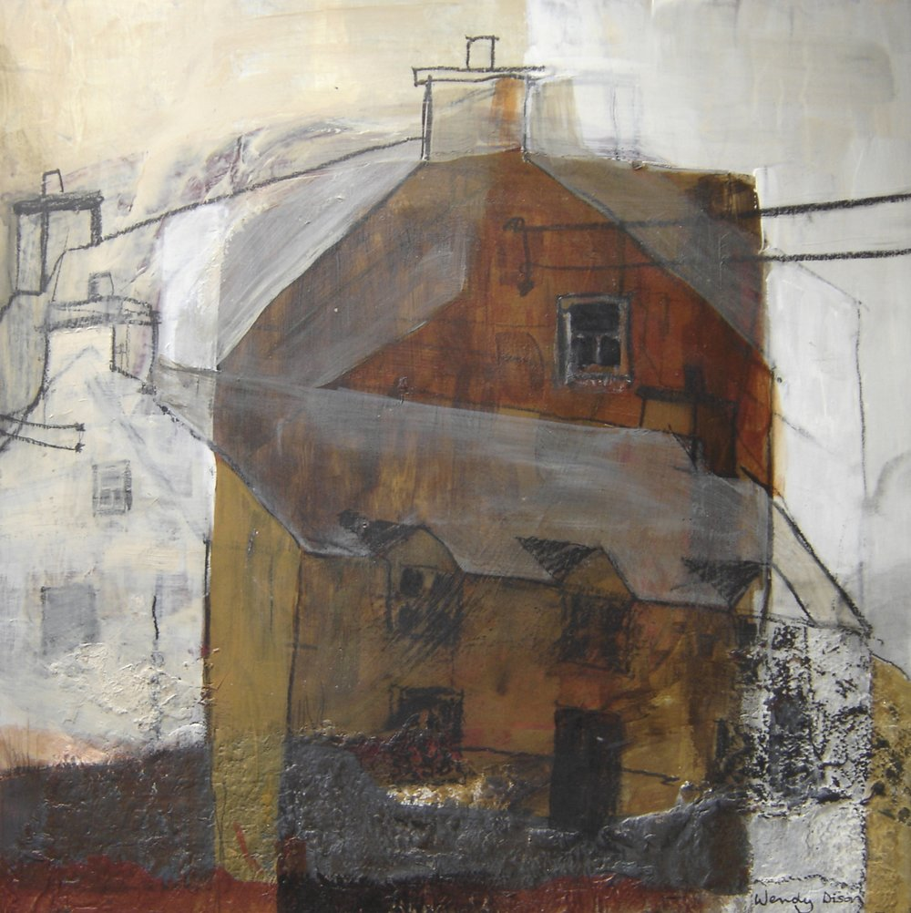 Ballinskelligs Farmhouse Acrylic and graphite on board, 37.5 x 37.5 cm 2005