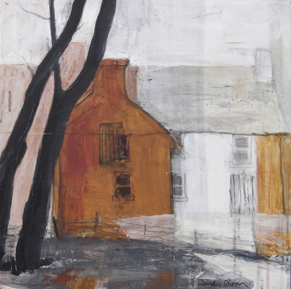 The Murphy House Acrylic and charcoal on board, 40 x 40 cm 2009