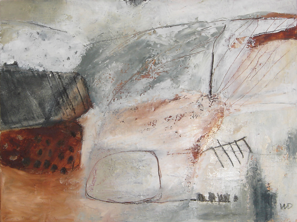 Converging Views 2 Oil and charcoal on board 38 x 52 cm 2013