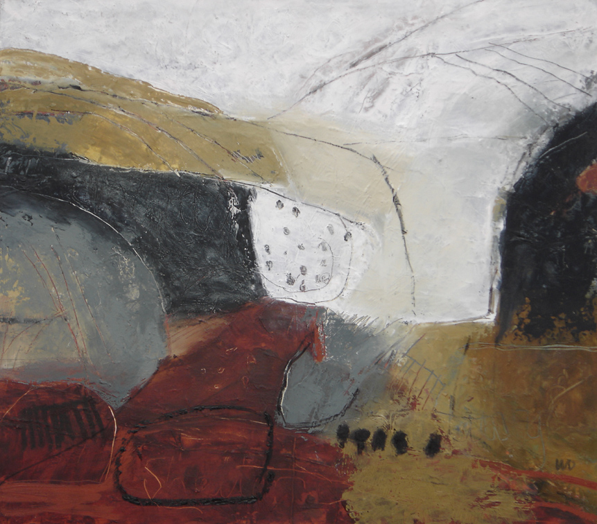 Converging Views 3 Oil and charcoal on board 45 x 52 cm 2013