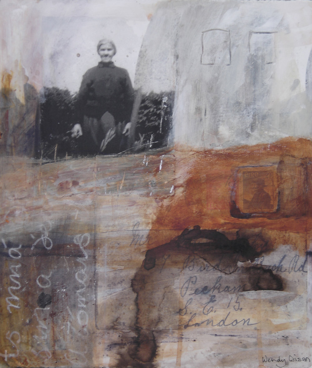 Waiting Mixed media on paper 41 x 35 cm 2006