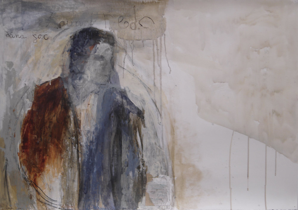 Wanderer Acrylic and graphite on paper 70 x 100 cm 2006