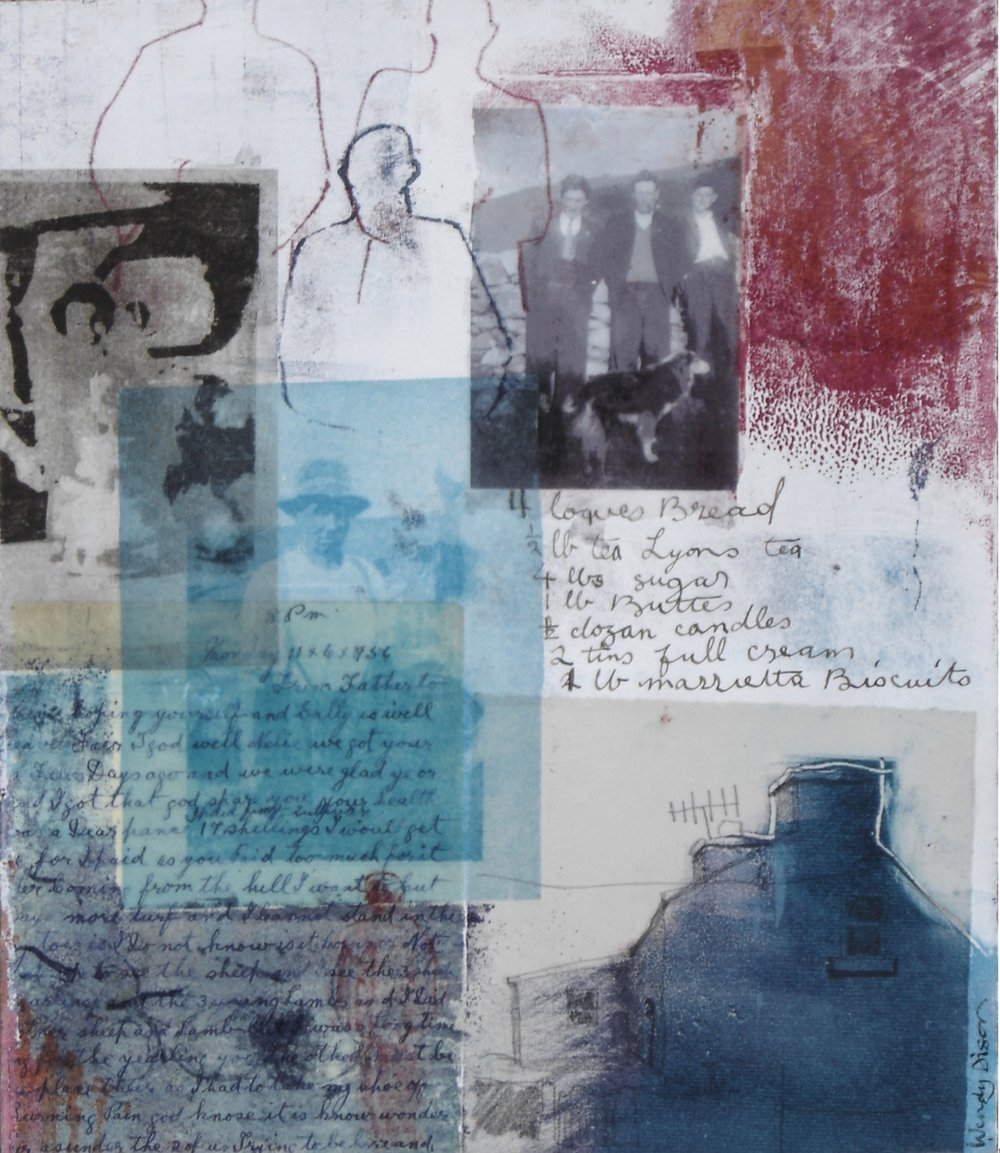 Within and Without 1 Mixed media on paper 35 x 30 cm 2006