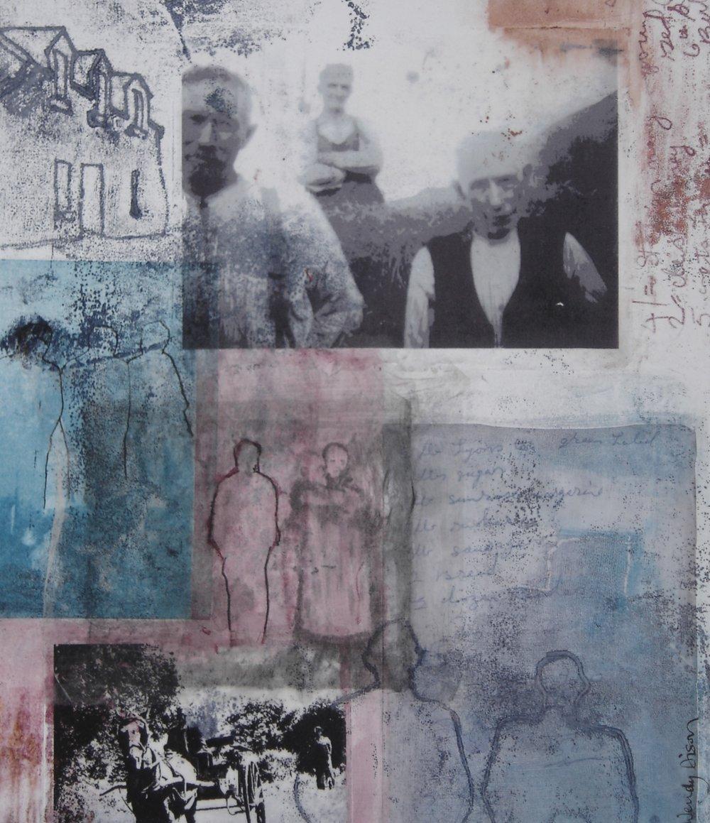 Within and Without 2  Mixed media on paper 35 x 30 cm 2006
