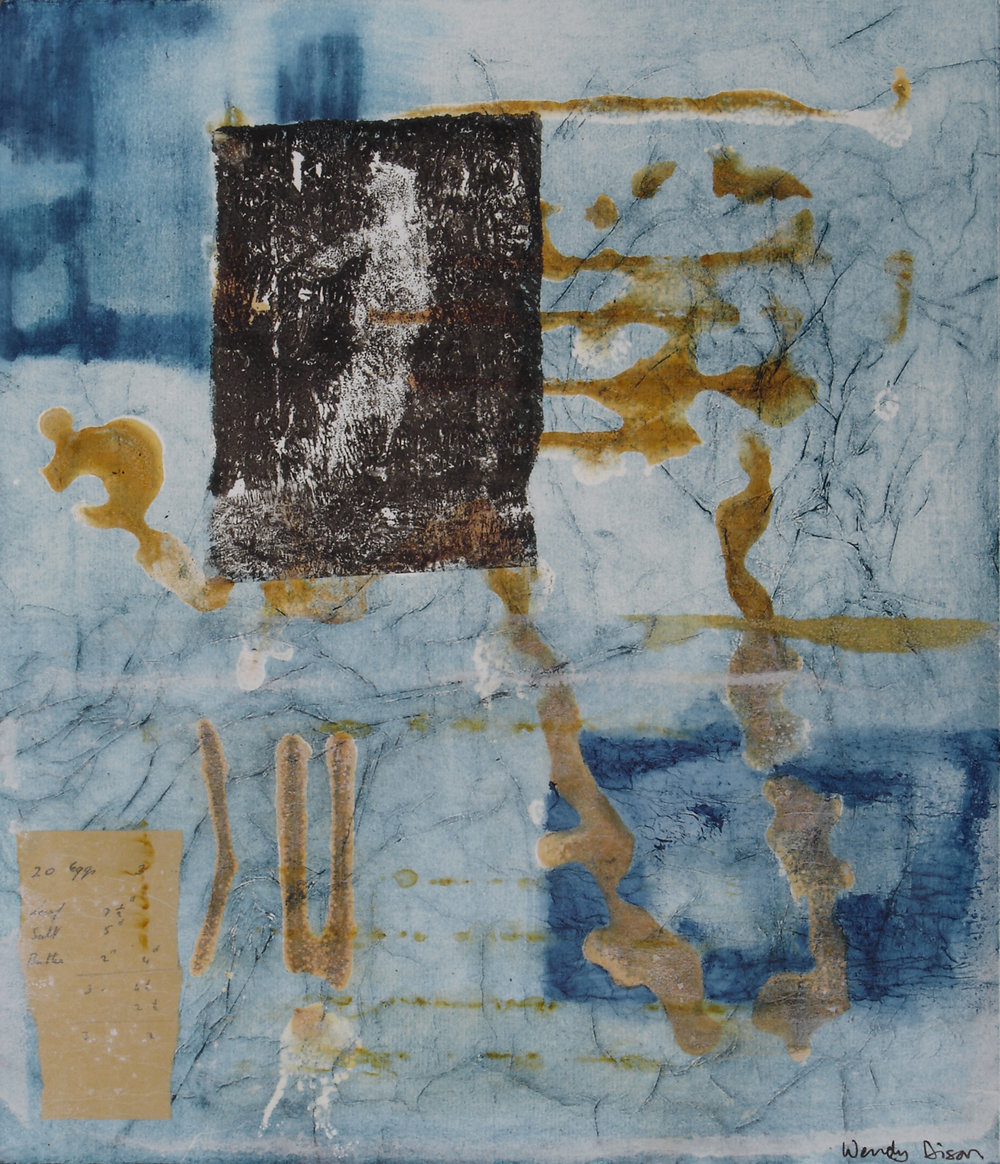 Peripheral Vision 2 Mixed media on paper 41 x 35 cm 2007