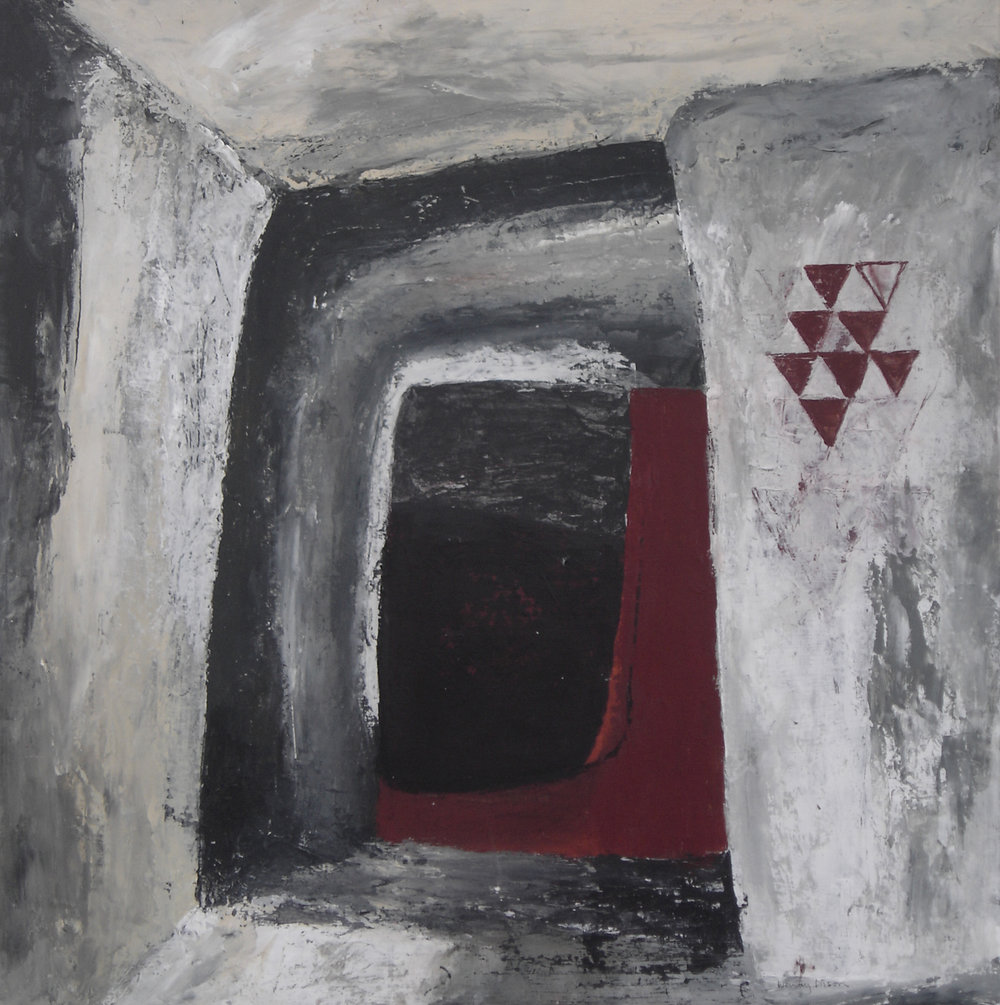 Passage 2 Acrylic on board 70.5 x 70.5 cm 2009