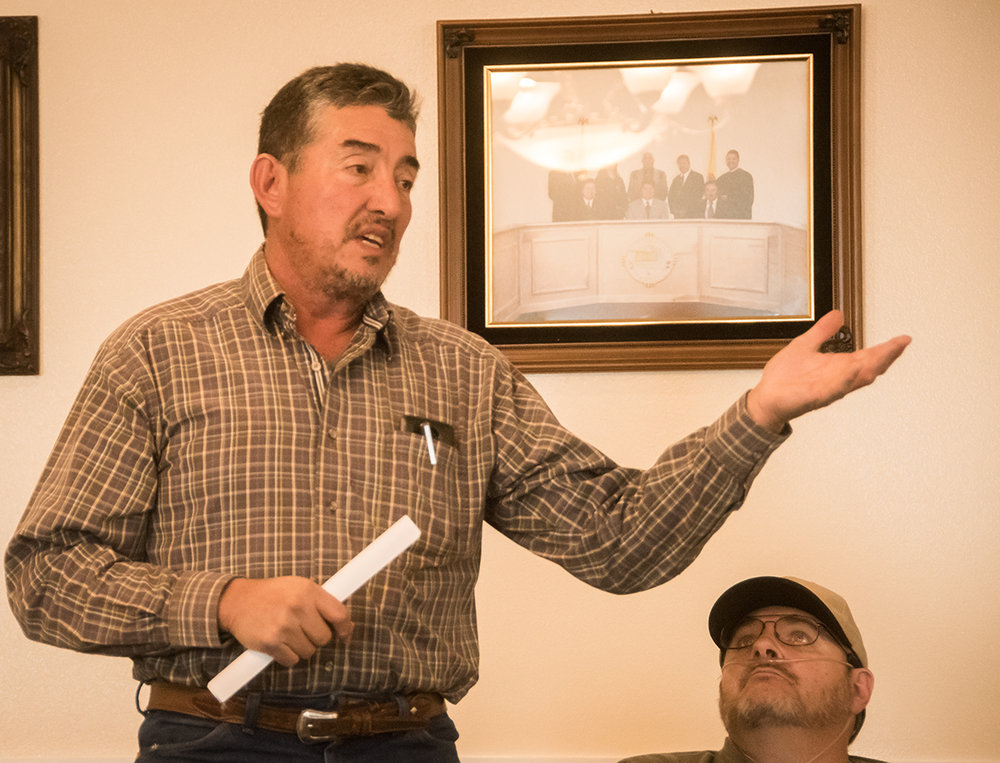 Norman Vigil presenting on updates to the Regional Conservation Partnership Program - Photo Credit: Lynn Lamaroux