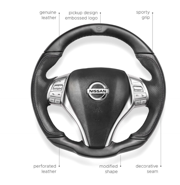 Maximum grip - The steering wheel of the Navy provides maximum grip.It has been trimmed with plain and perforated leather,which makes the driving experience a real pleasure.