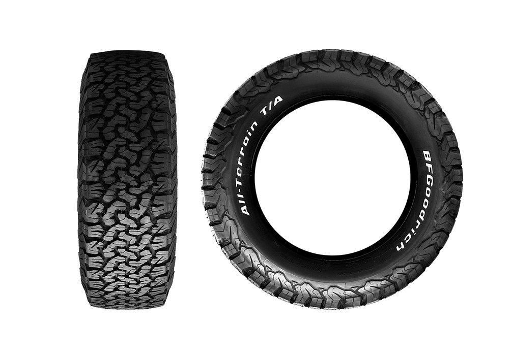 "18"" BF Goodrich All Terrain T/A tyres"