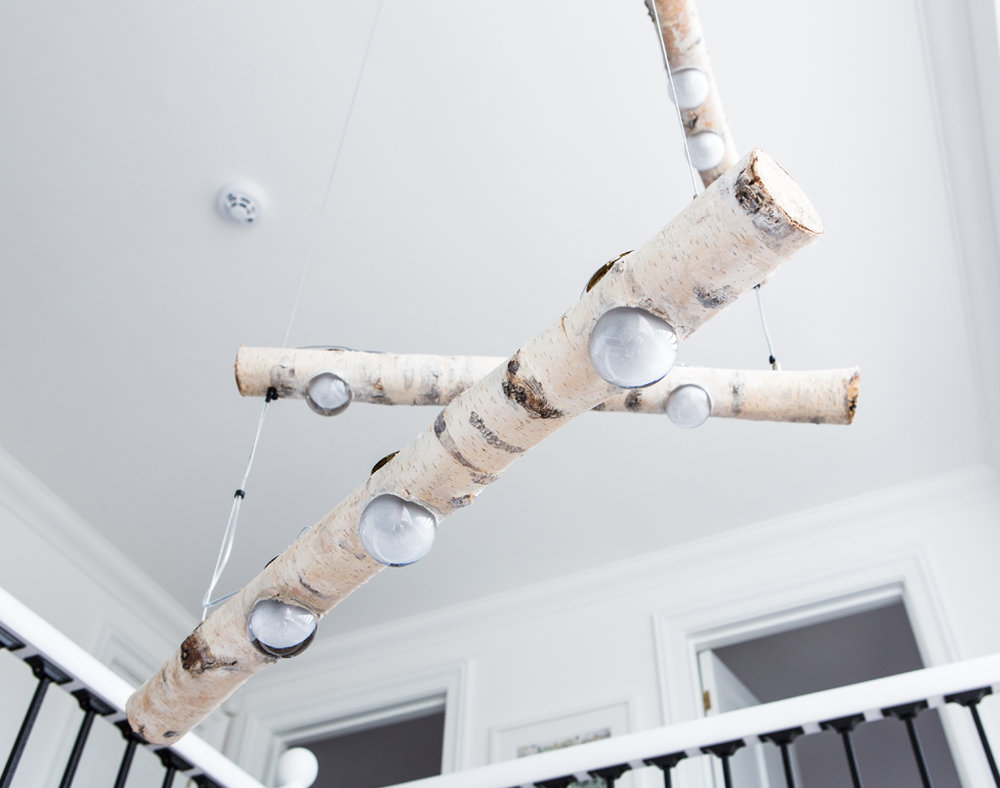 SILVER BIRCH TRIPLE LIGHT PENDANT