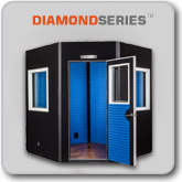 Diamond Shape  Non-Parallel Walls  Gold or Platinum Wall Design  Solid Wood Door